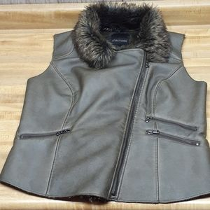 MAURICES Faux Leather and Fur Jacket